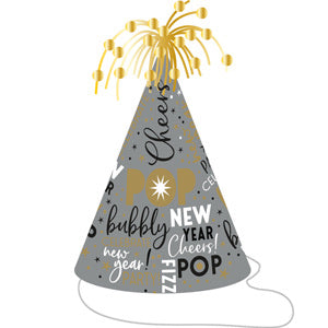 New Years Eve Foil Cone Hat - The Ultimate Balloon & Party Shop