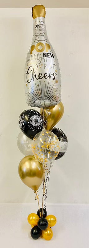 New Years Champagne Balloon Bouquet - The Ultimate Balloon & Party Shop