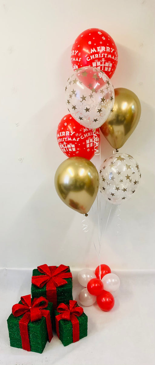 Christmas Assorted Display - Stars/Chrome/Christmas - The Ultimate Balloon & Party Shop