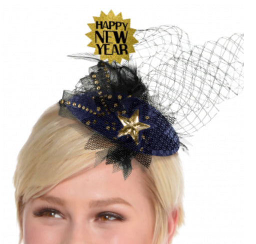 Midnight HNY Clip On Couture Hat - The Ultimate Balloon & Party Shop