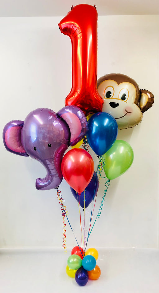 Age Rainbow Animal Birthday Balloon Display - The Ultimate Balloon & Party Shop