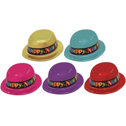 Happy New Year Derby Hat - The Ultimate Balloon & Party Shop