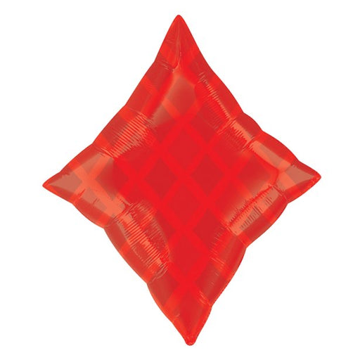 Diamond Shaped Foil Balloon - Red - The Ultimate Balloon & Party Shop