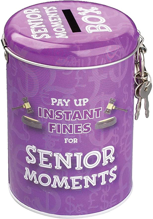 Fines Tin Money Box - Senior Moments - The Ultimate Balloon & Party Shop