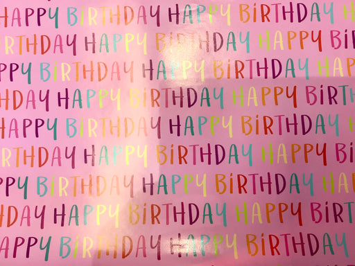 Birthday Gift Wrap - Birthday Pink - The Ultimate Balloon & Party Shop