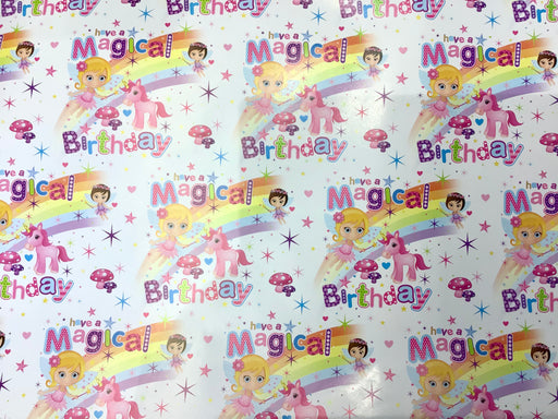 Birthday Gift Wrap - Unicorn Magic - The Ultimate Balloon & Party Shop