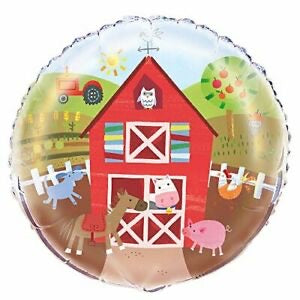"18"" Farm Yard Printed Foil Balloon - The Ultimate Balloon & Party Shop"