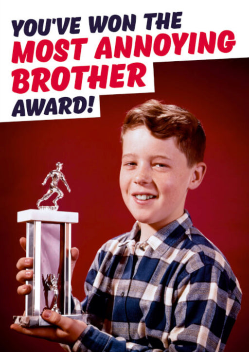 Most Annoying Brother Award. - The Ultimate Balloon & Party Shop