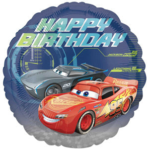 "18"" Foil Cars Printed Balloon - Birthday - The Ultimate Balloon & Party Shop"