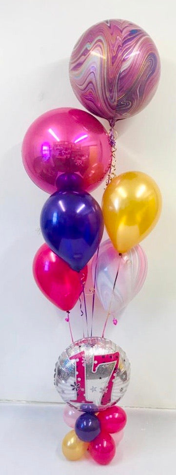 Marble Age Birthday Display - The Ultimate Balloon & Party Shop