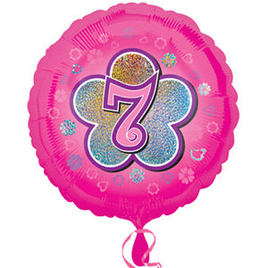 "18"" Foil Age 7 Balloon - Pink - The Ultimate Balloon & Party Shop"