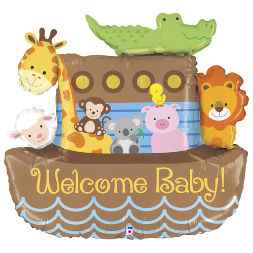 Welcome Baby Super Shape Foil Balloon - Noah's Arc - The Ultimate Balloon & Party Shop