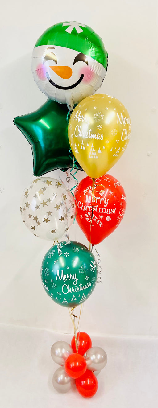 Christmas Party Balloon Display - Mixed Foil Bouquet - The Ultimate Balloon & Party Shop