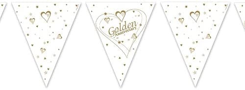 50th Golden Anniversary Bunting - Paper - The Ultimate Balloon & Party Shop