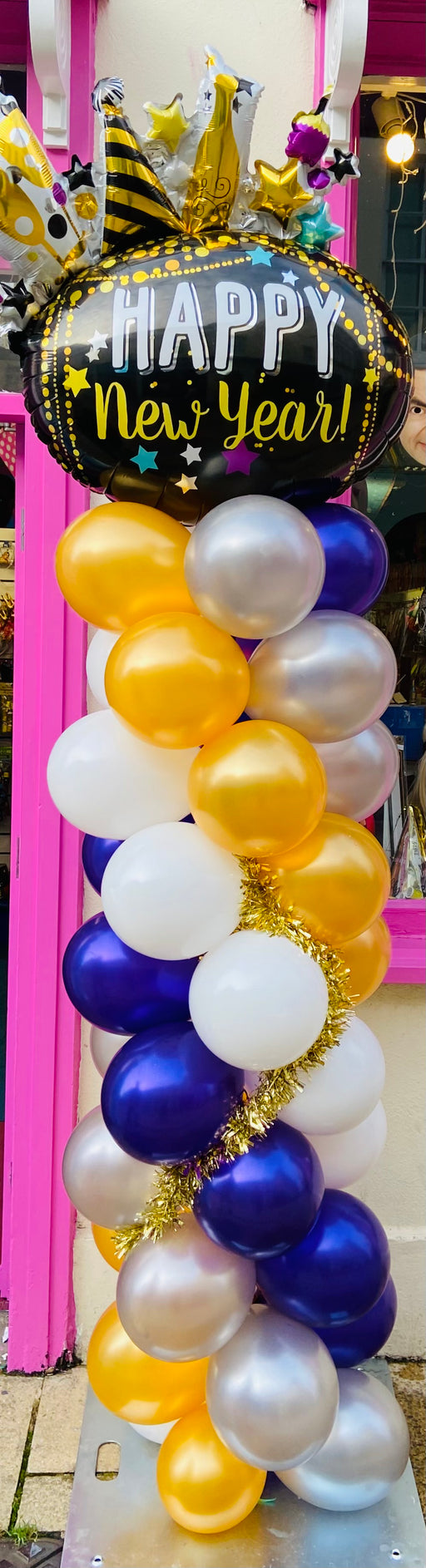New Years Balloon Column - Celebrate - The Ultimate Balloon & Party Shop