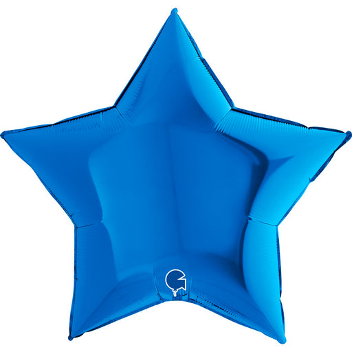 36 Large Foil Star Balloon - Blue - The Ultimate Balloon & Party Shop
