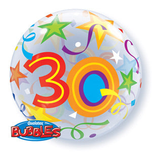 30th Birthday Deco Bubble Balloon -  Bright - The Ultimate Balloon & Party Shop