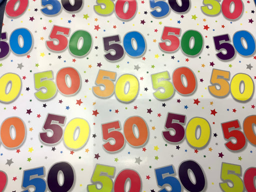 Birthday Gift Wrap - Age 50 - The Ultimate Balloon & Party Shop