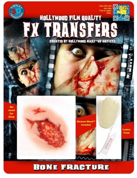 3D FX Horror Transfers - Bone Fracture - The Ultimate Balloon & Party Shop
