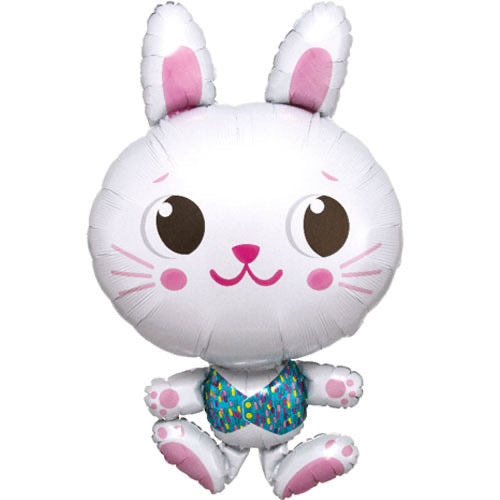 Large Animal Shape Foil Balloon - Cute Bunny - The Ultimate Balloon & Party Shop