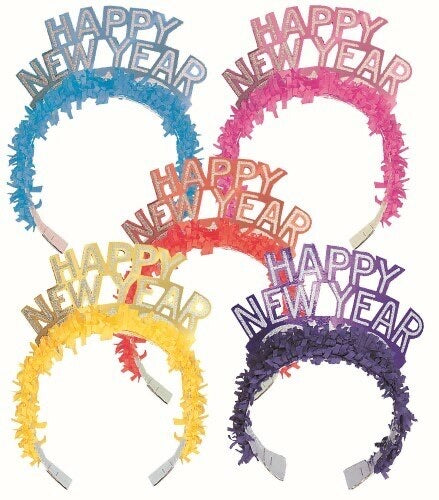 Happy New Year Glitter Tiara - The Ultimate Balloon & Party Shop