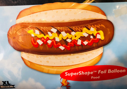 "30"" Foil Hot Dog Shape Balloon - The Ultimate Balloon & Party Shop"