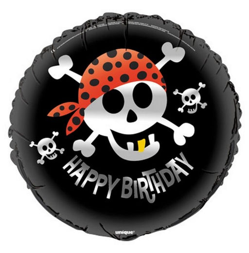"18"" Foil Pirate Happy Birthday Printed Balloon - The Ultimate Balloon & Party Shop"