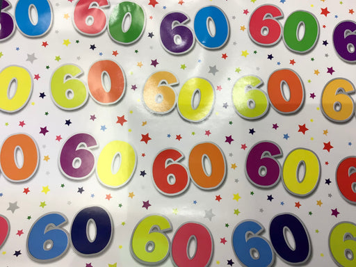Birthday Gift Wrap - Age 60 - The Ultimate Balloon & Party Shop