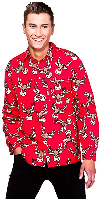 Christmas Theme Shirt - Reindeer - The Ultimate Balloon & Party Shop