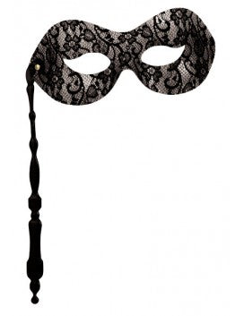 Black Lace Eyemask On Stick