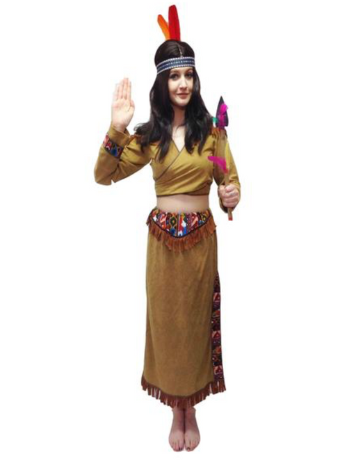 NEW Indian Lady/Pocahontas Hire Costume