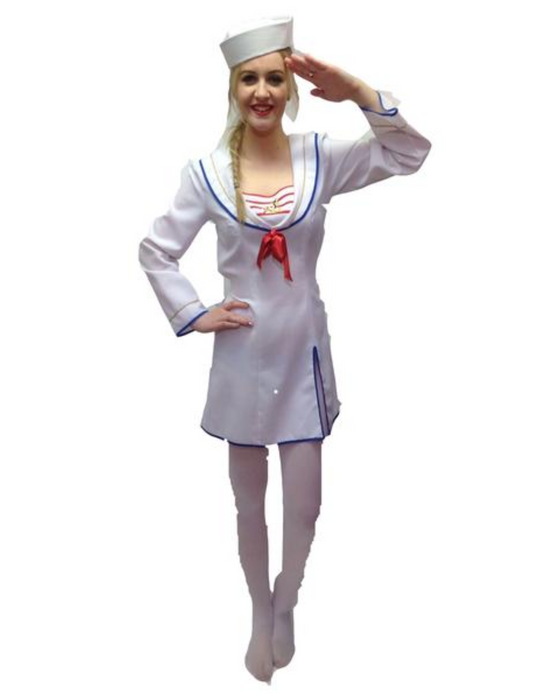 NEW Female Sailor Hire Costume - The Ultimate Party Shop