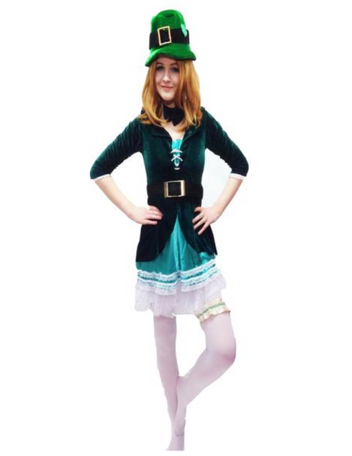EX Hire - Leprechaun Lady Costume - The Ultimate Party Shop