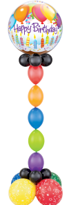 Slim Birthday Bubble Pillar - The Ultimate Balloon & Party Shop