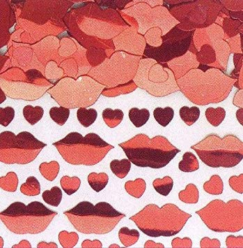 Hot Lips Sparkle Hearts Table Confetti - The Ultimate Party Shop