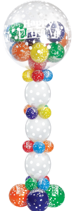 Magical Bubbly Birthday Pillar - The Ultimate Balloon & Party Shop