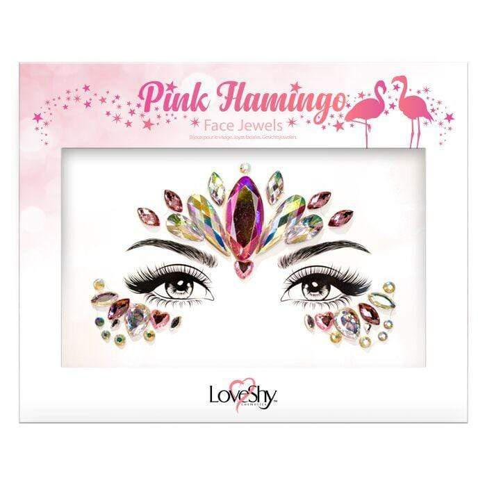 Glitter Face Jewels - Pink Flamingo - The Ultimate Party Shop