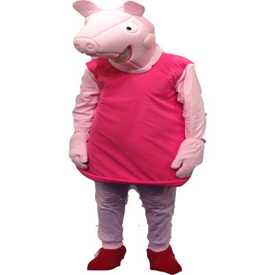 Pink Pig Mascot Hire Costume - The Ultimate Party Shop