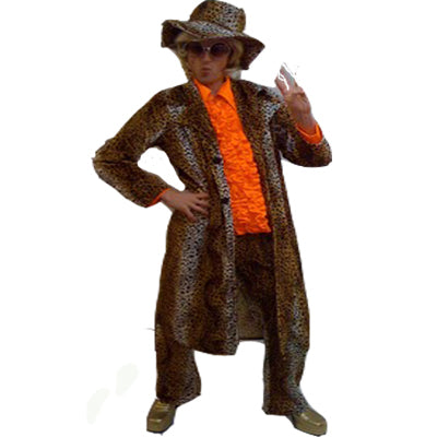 1970s Pimp Deluxe Hire Costume - The Ultimate Party Shop