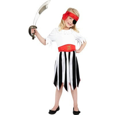 Pirate Girl Children's Costume - The Ultimate Party Shop