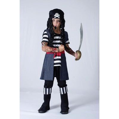 Tattoo Pirate Boy Children's Costume - The Ultimate Balloon & Party Shop