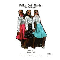 1950s Polka Dot Skirt Hire Costume - The Ultimate Party Shop