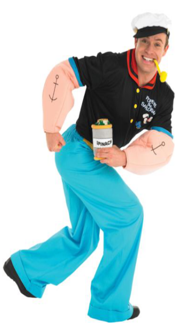 Popeye The Sailor Man Hire Costume - The Ultimate Party Shop