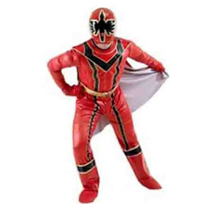 Power Ranger Hire Costume  - Red - The Ultimate Party Shop