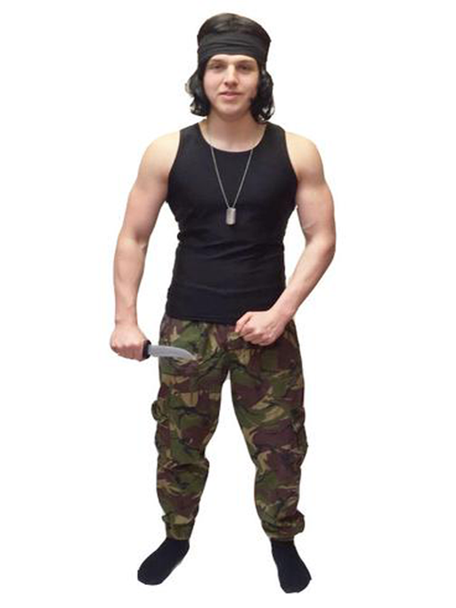 Rambo Hire Costume