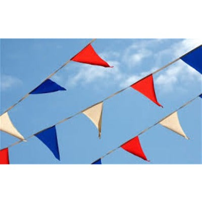 Red, White & Blue Pennant Bunting 15m