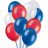 Red White & Blue Balloons & ribbon - The Ultimate Party Shop