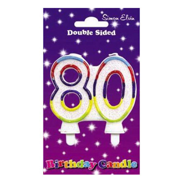 Wax Number Candle - 80 - The Ultimate Party Shop