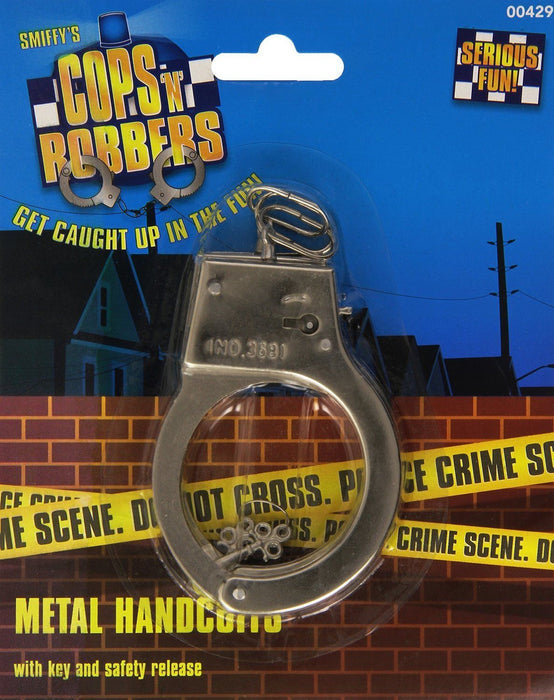 Metal Silver Handcuffs - The Ultimate Balloon & Party Shop