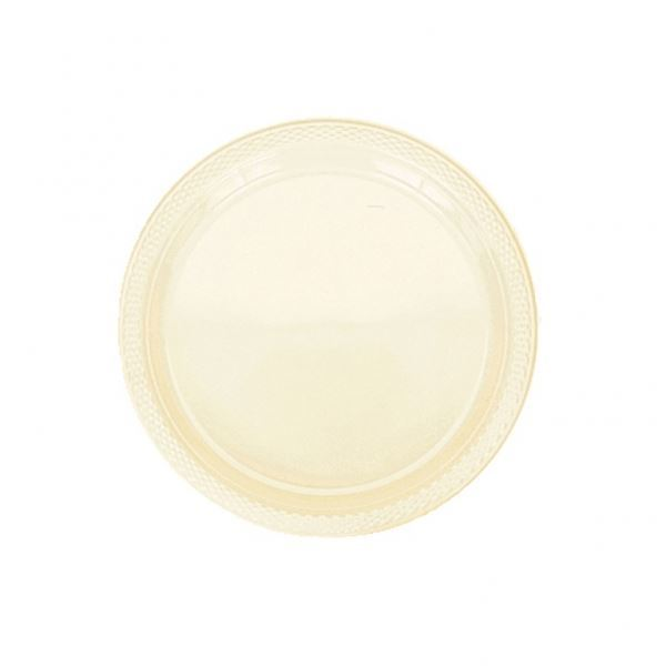 Round Paper Plates - Ivory - The Ultimate Balloon & Party Shop